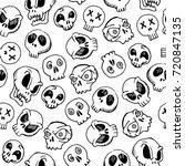 seamless skull pattern for...   Shutterstock .eps vector #720847135