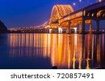 bridge of seoul banghwa bridge... | Shutterstock . vector #720857491