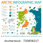 arctic region map   detailed... | Shutterstock .eps vector #720858217