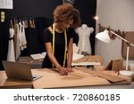 a young fashion designer... | Shutterstock . vector #720860185