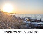 sunrise on the beach  montgat ...   Shutterstock . vector #720861301