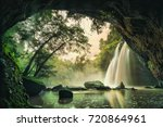 waterfall in tropical forest at ... | Shutterstock . vector #720864961