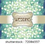 amazing wedding invitation on...   Shutterstock .eps vector #72086557