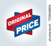 original price arrow tag sign. | Shutterstock .eps vector #720868804