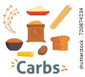 food carbs isolated healthy... | Shutterstock .eps vector #720874234