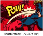 pop art comic book style panel... | Shutterstock .eps vector #720875404