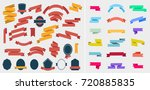 vector set of colorful empty... | Shutterstock .eps vector #720885835