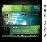website template | Shutterstock .eps vector #72088678