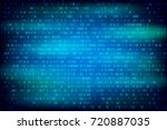 binary code blue background.... | Shutterstock .eps vector #720887035