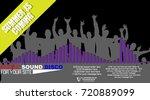 background flyer poster  summer ... | Shutterstock .eps vector #720889099