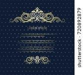 vintage card with elegant... | Shutterstock .eps vector #720892879