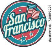 san francisco symbol | Shutterstock .eps vector #720893224