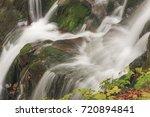 stream in beech forest in a... | Shutterstock . vector #720894841