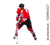 ice hockey player  abstract... | Shutterstock .eps vector #720896317