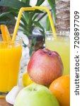 fresh natural lemonade and... | Shutterstock . vector #720897709