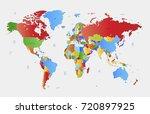 color world map vector | Shutterstock .eps vector #720897925