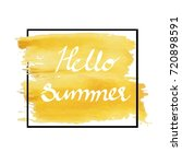 hello summer in yellow color... | Shutterstock .eps vector #720898591