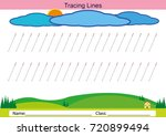 follow the lines with your... | Shutterstock .eps vector #720899494