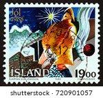 iceland   circa 1988  a stamp...   Shutterstock . vector #720901057
