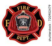 fire department cross volunteer ...   Shutterstock .eps vector #720902479