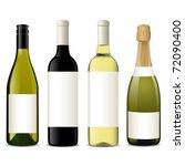 vector wine bottles   Shutterstock .eps vector #72090400