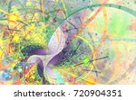 abstract fractal patterns and... | Shutterstock . vector #720904351