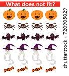 halloween educational game for... | Shutterstock .eps vector #720905029