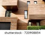 modern contemporary wood sided ... | Shutterstock . vector #720908854