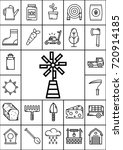 agriculture icon set  vector   Shutterstock .eps vector #720914185