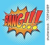 pop art comic speech bubbles... | Shutterstock .eps vector #720916489