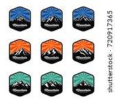 mountain logo template vector... | Shutterstock .eps vector #720917365