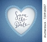 save the date lettering  vector ... | Shutterstock .eps vector #720918307