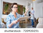 annoyed guest of cafe or...   Shutterstock . vector #720920251