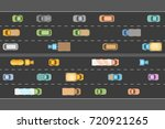 traffic jam. top view. the road ... | Shutterstock .eps vector #720921265
