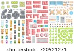 set of landscape elements.... | Shutterstock .eps vector #720921271