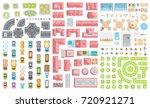 set of landscape elements....   Shutterstock .eps vector #720921271