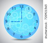 blue mechanical clock with... | Shutterstock .eps vector #720921565
