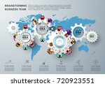 concept for business teamwork... | Shutterstock .eps vector #720923551