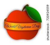 world vegetarian day.  vector... | Shutterstock .eps vector #720924559
