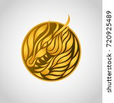 dragon logo vector icon design... | Shutterstock .eps vector #720925489