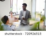multi ethnic team of talented... | Shutterstock . vector #720926515