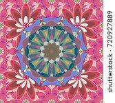 vector illustration. flourish... | Shutterstock .eps vector #720927889