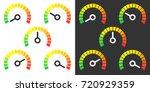 meter signs infographic gauge... | Shutterstock .eps vector #720929359