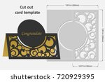 template cards to cut. topper.... | Shutterstock .eps vector #720929395