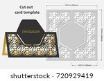 template cards to cut. topper.... | Shutterstock .eps vector #720929419