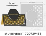 template cards to cut. topper.... | Shutterstock .eps vector #720929455
