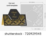 template cards to cut. topper.... | Shutterstock .eps vector #720929545