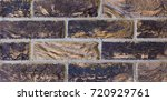 texture of natural brick.... | Shutterstock . vector #720929761