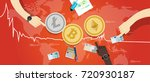 crypto currency bitcoin...   Shutterstock .eps vector #720930187
