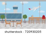 empty cafe tables in the... | Shutterstock .eps vector #720930205
